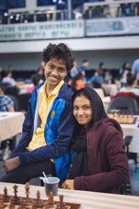 Tharushi T H D Niklesha (SRI) and Saumy Zainab (SRI)