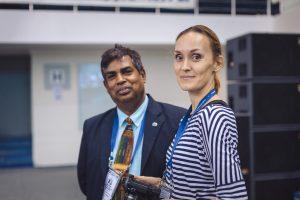 an arbiter Luxman Wijesuriya (SRI) and a media officer Anna Volkova
