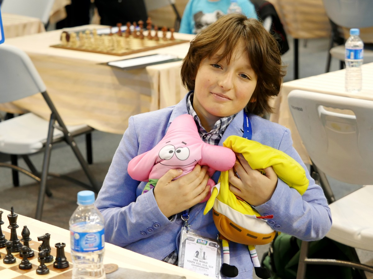 Shubin Kirill (RUS) with his lucky toys