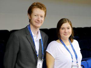 an arbiter Jamie Kenmure (AUS) with a translator Marina Borodina