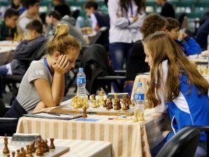 Khomeriki Nino (GEO) and Obolentseva Alexandra (RUS)