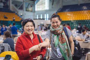 Christina Tao (CAN) and Shirley Sun (AUS)